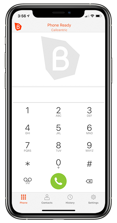 Bria App with Callcentric on iPhone