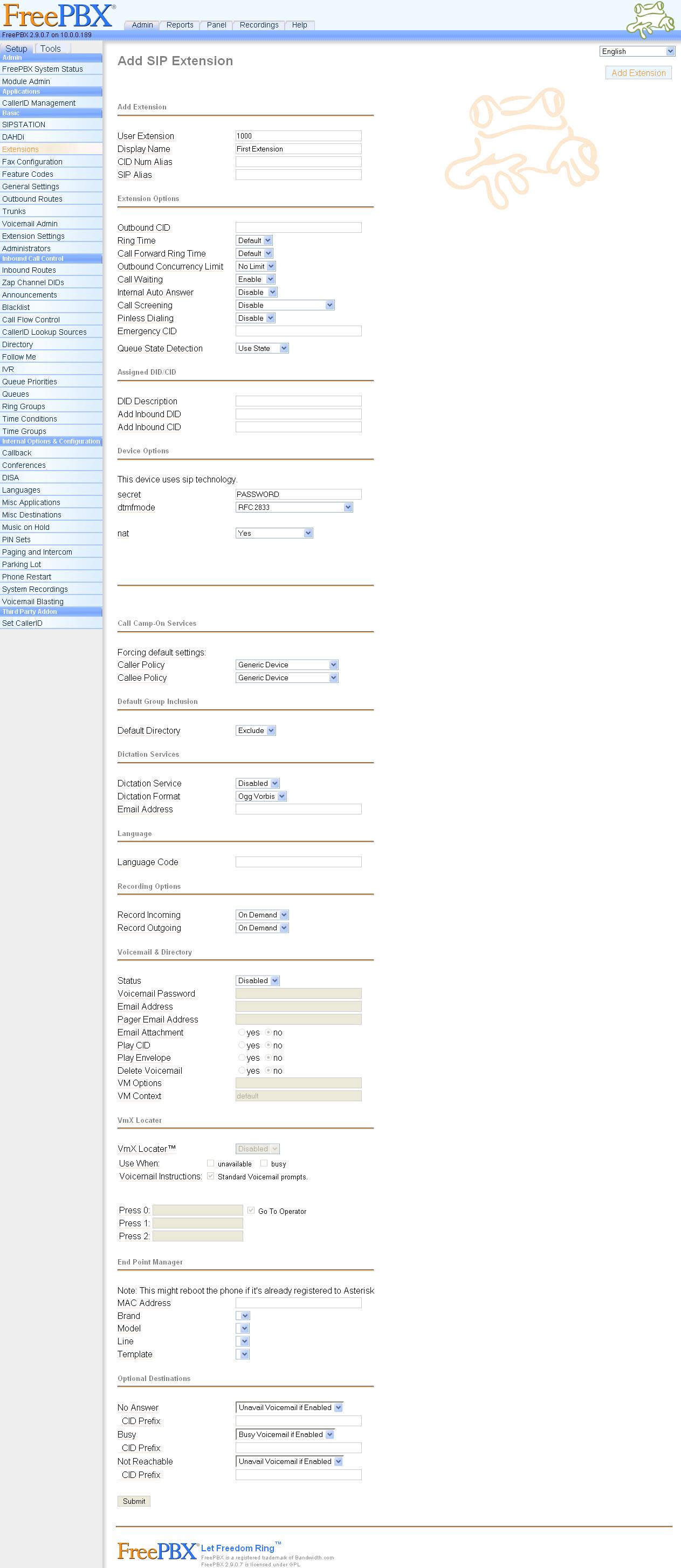 trixbox / Elastix / pbx-in-a-flash Configuration and Review