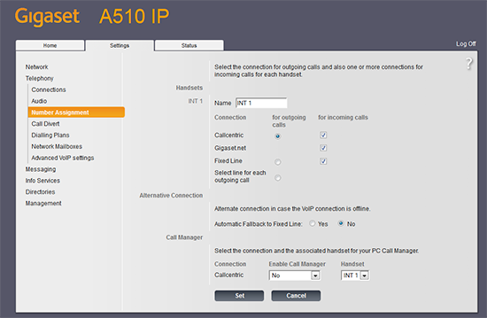 Gigaset A510 IP Configuration and Review