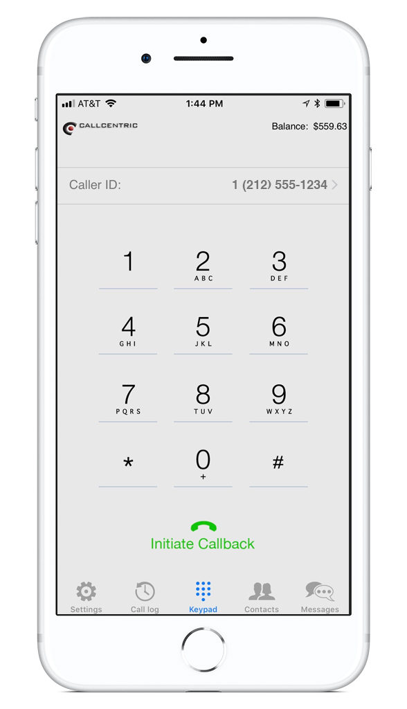 iPhone VoIP Callback and SMS App